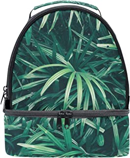 Mydaily Kids Lunch Box Tropical Leaf Reusable Insulated School Lunch Tote Bag