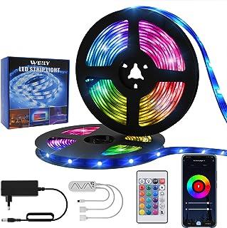 WEILY Alexa Led Strip Lights 50ft/15M Wifi Control RGB Smart Led Light Strip