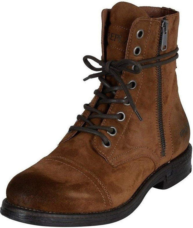 _ReplayDonald _ReplayDonald _ReplayDonald Tan herr Mid Ankle mocka Army stövlar  exklusiv