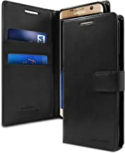 Goospery Blue Moon Wallet for Samsung Galaxy S7 Edge Case (2016) Leather Stand Flip Cover (Black) S7E-BLM-BLK