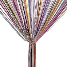 TRIXES String Dew Drop Curtain - Glitter Tassel – Multicoloured - Door or Window Panel 90 x 200cm Perfect as Fly Screen