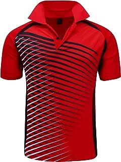 Mens Polo Shirt Quick-Dry High Moisture Wicking Short...