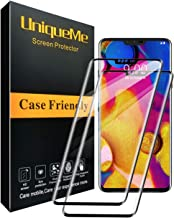 [2 Pack] UniqueMe Screen Protector for LG V40 ThinQ,[Case Friendly][Full Coverage] 3D Tempered Glass with Lifetime Replacement Warranty (Black)