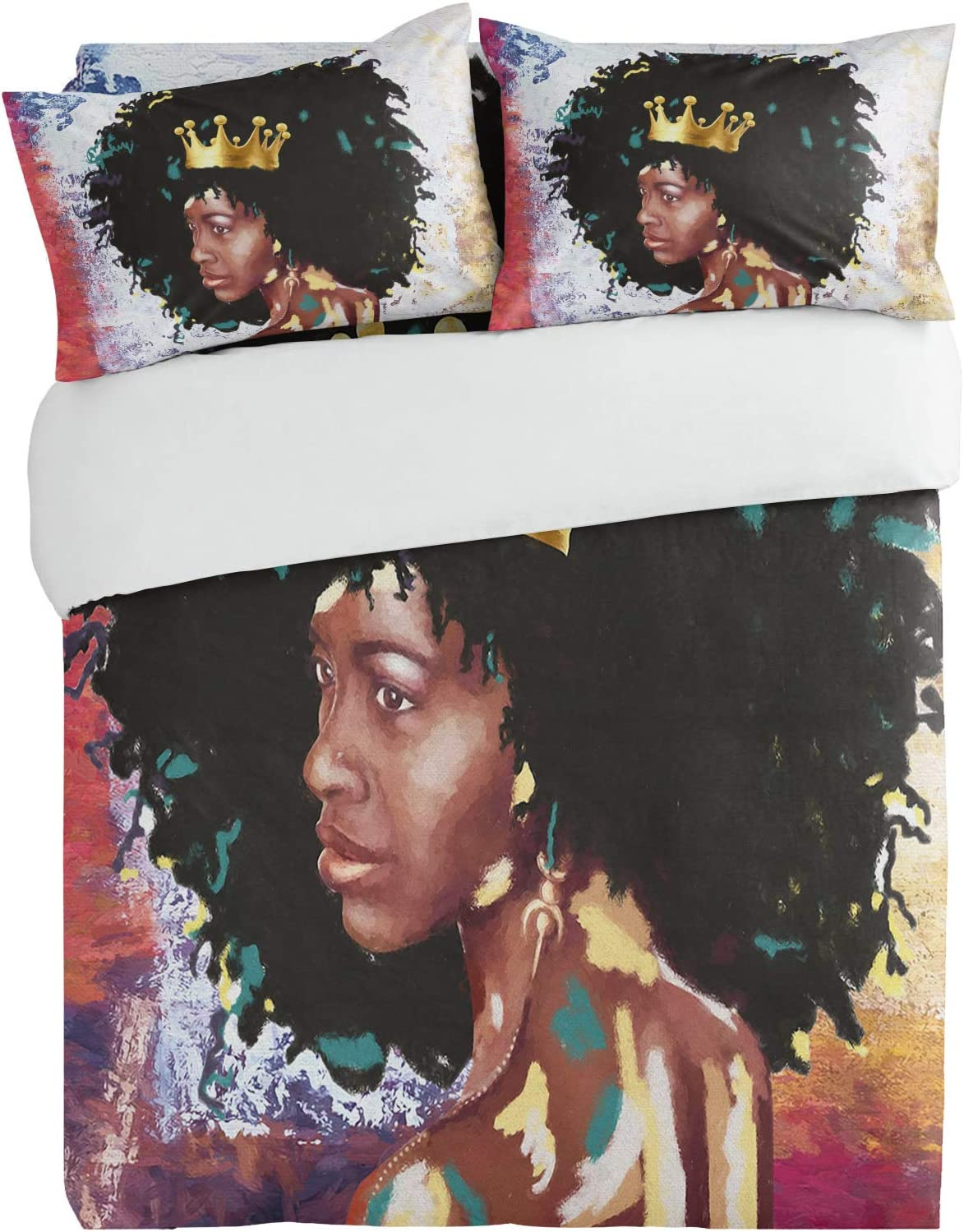 Queener Home 3 Pieces Bedding Sets Crown Max 49% OFF Duv with America Woman Genuine