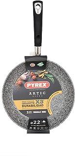 Pyrex Sabor Aluminium Frying Pan, 22 cm, Induction, Embossed Background, Non-Stick Trilayer, Ergonomic Handle, Print
