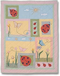 Patch Magic Queen Ladybug Quilt, 85-Inch by 95-Inch