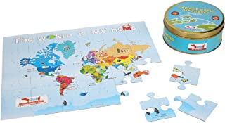 CocoMoco My First World Map Puzzle for Kids- Countries and Continents- 30 pieces, Reversible Jigsaw Puzzle- Birthday Retur...