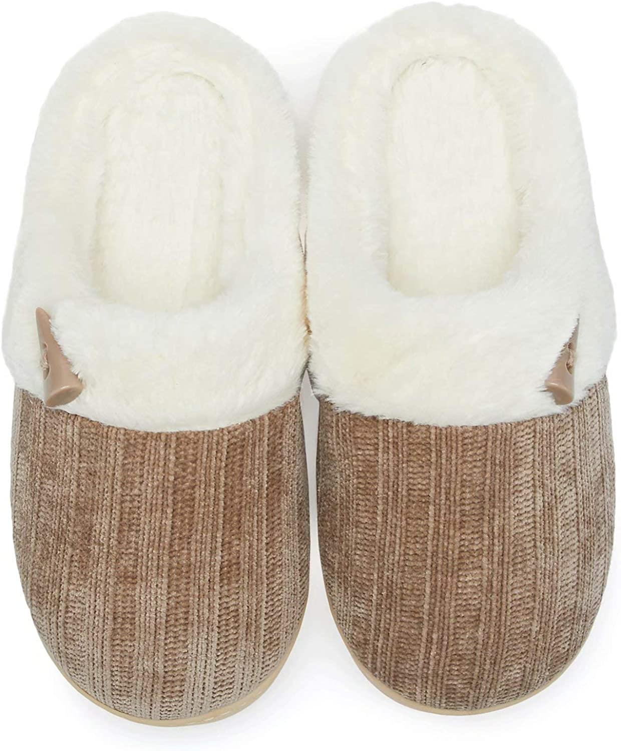 NineCiFun Women's Max 73% OFFicial OFF Comfy House Slippers Foam Memory Bedroom Fuzzy