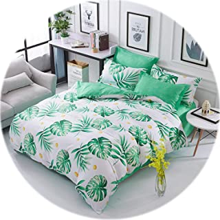 Memoirs- 2019 New Bedding Sets Single King Size 2-3PCS Duvet Cover Set, 4PCS Set for Duvet Cover Bed Sheet Pillowcase,Bed Set Beddingset,07,Double,2-3PCS Set
