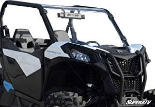 SuperATV Can-Am Maverick Trail 800/1000 Heavy Duty Scratch Resistant Full Windshield (2018+) - Installs in 5 Minutes!