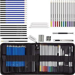 40 Pcs Lapices de Dibujo Profesional Lápices de Colores Colores Profesionales Kit de Dibujo Lápices de Dibujo Arte Juego P...