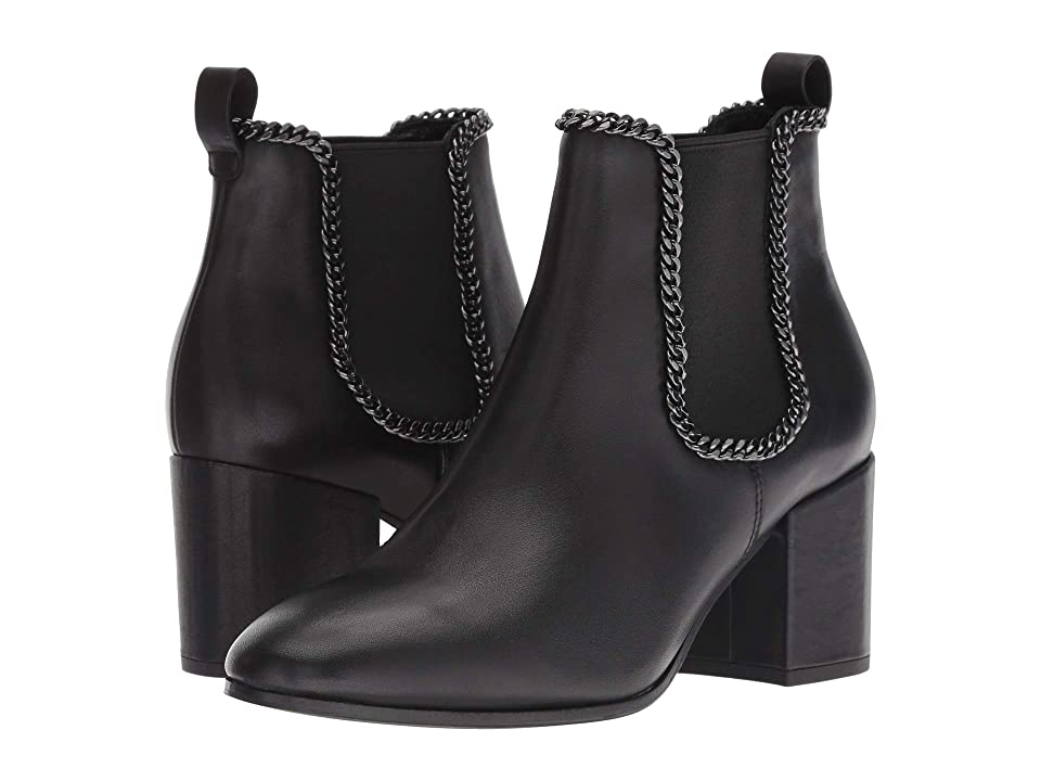Kennel & Schmenger Jade Chainlink Bootie (Black Smooth Calf) Women