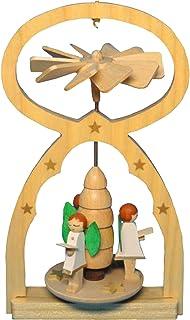 Angel Choir Miniature Pyramid 3 x 5 Inch Wood Christmas Ornament Figurine