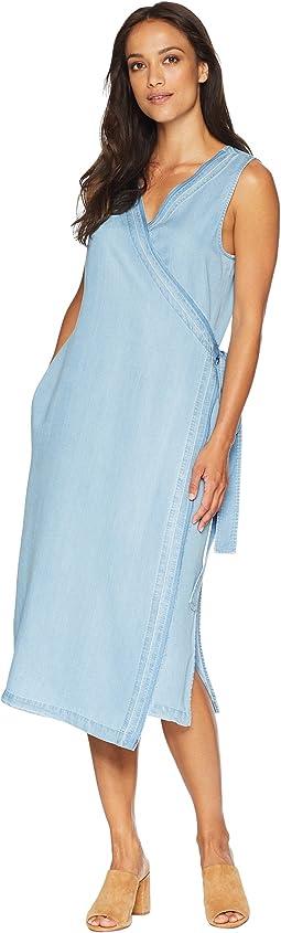 NYDJ Wrap Dress w/ Release Hem