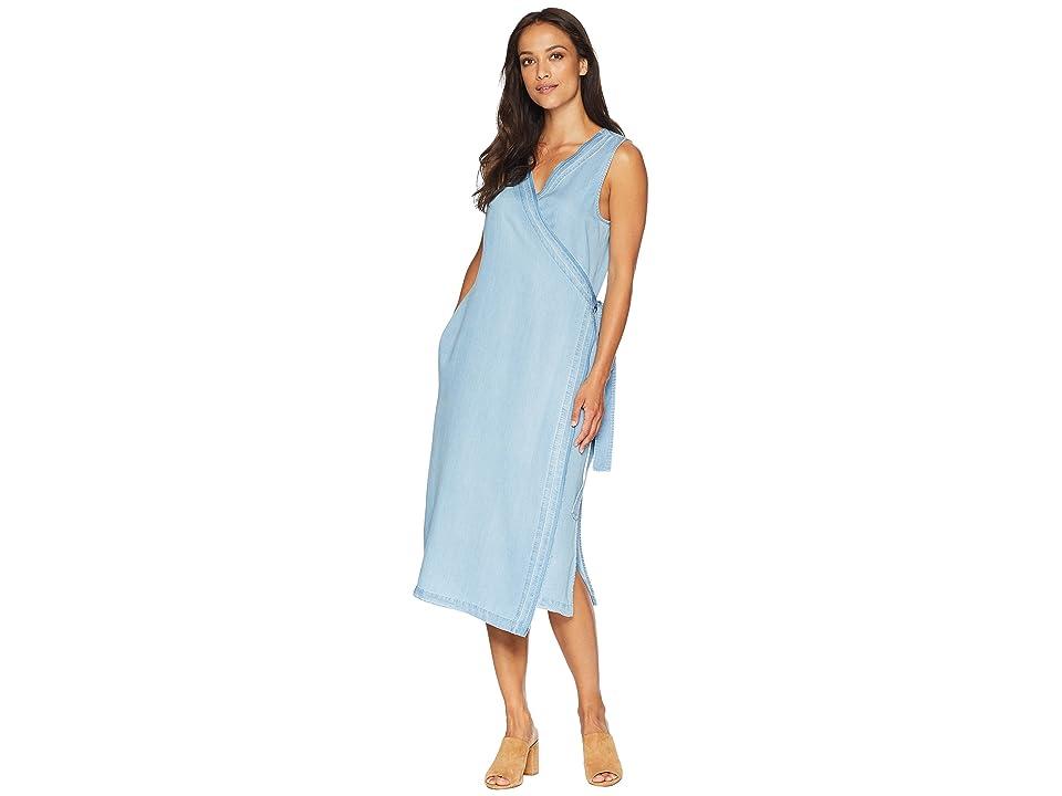 NYDJ Wrap Dress w/ Release Hem (Sea Mist Wash) Women