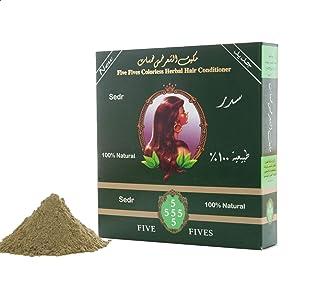 بلسم طبيعي مكيف للشعر بعشب السدر خالي من الملونات من خمس خمسات - 100 جم