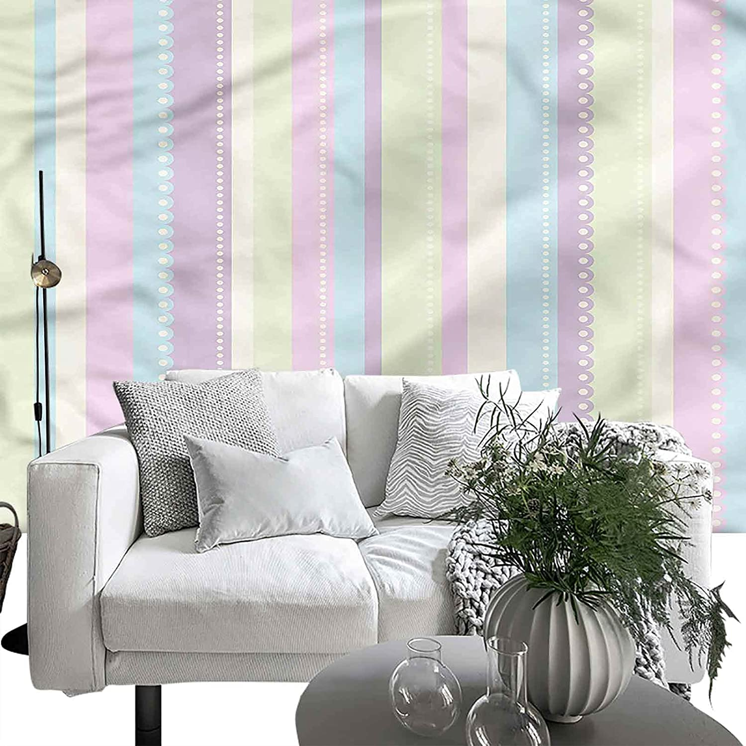 Removable Large Spring new work one after SEAL limited product another Sticker Foil Stripes Vertical Geometric Abstract