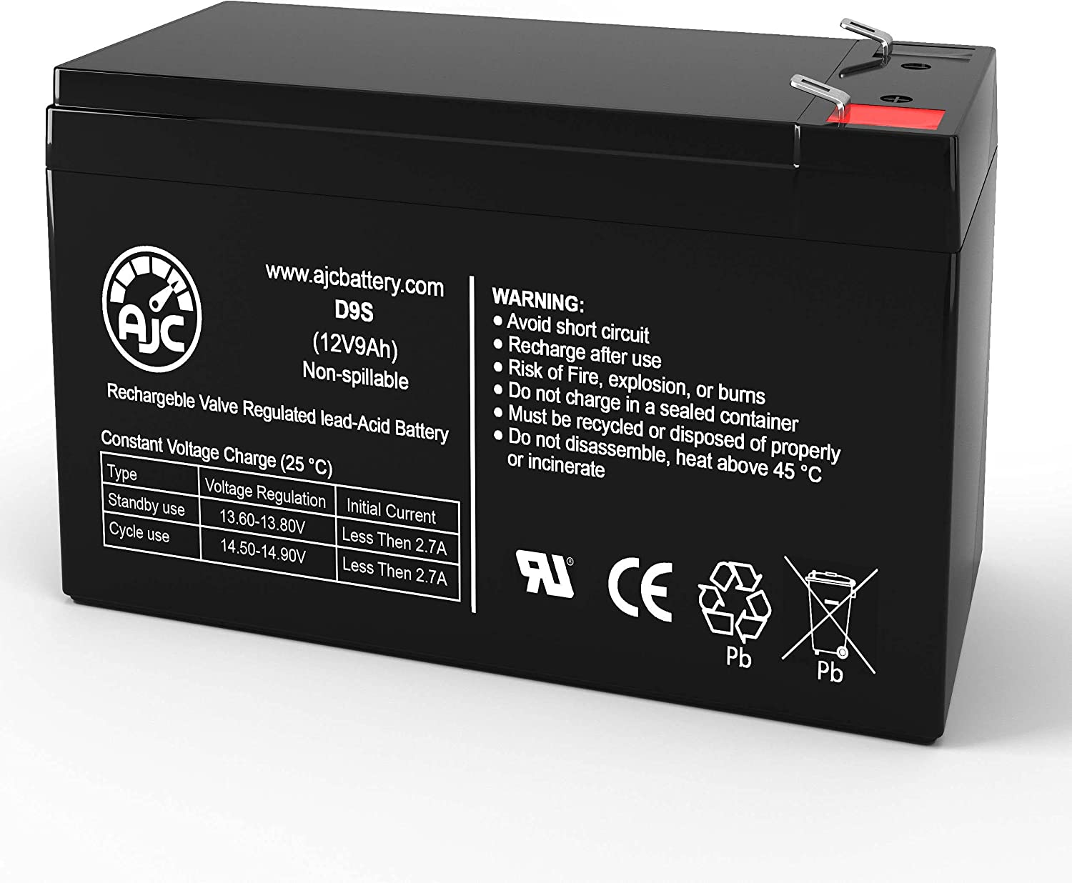 AJC Battery Compatible with PowerWare PWHR1234W2FR 12V 9Ah UPS Battery