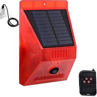 $25 » Sponsored Ad - Solar Sound & Light Alarm Motion Sensor: Solar Strobe Light Motion Detector with 433 MHz RF Remote, 129 Dec...