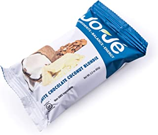 Sponsored Ad - JoJe´ Bars - 12 Bars, 1 Case - White Chocolate Coconut Blondie - Gluten Free Energy Bar Made With All Natur...