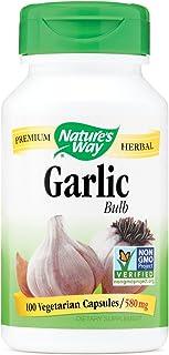 Natures Way Garlic Bulb Vegetarian Capsule, 100 ct