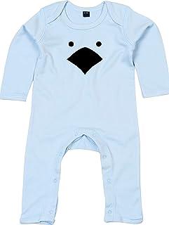 Kleckerliese Baby Strampler Schlafanzug Overall Sprüche Jungen Mädchen Motiv Tiere Küken Huhn Hühnchen