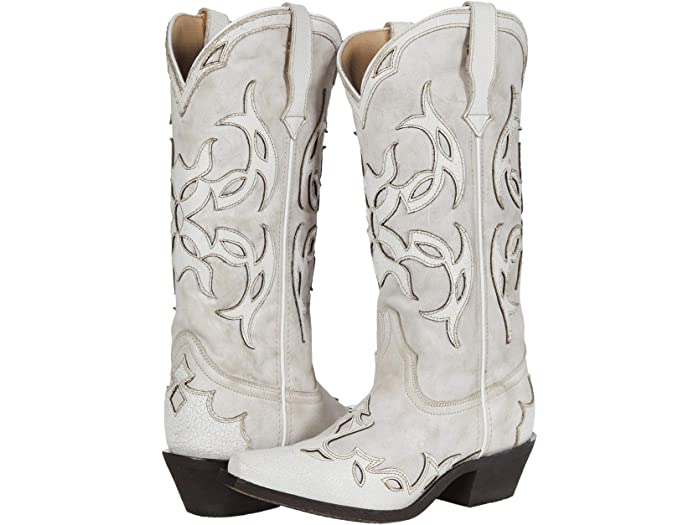 Laredo Women's Crazy In Love Off White Western Boots