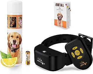 Nocciola 2020 nuevo collar anti-campana de entrenador remoto con spray, collar de entrenamiento para perros,control remoto+spray automático, que incluye recarga de spray Citronella, resistente al agua