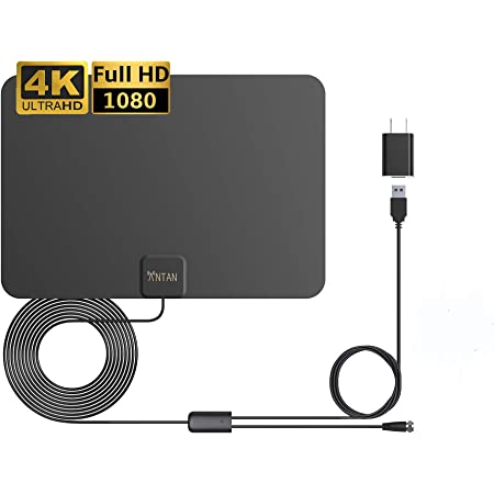 ANTAN Indoor Amplified HD TV Antenna Up to 45 65 Mile Range Support 8K 4K 1080p VHF UHF Free view Television Local Channels for All Indoor TVs with Longer 16.5ft Coax Cable