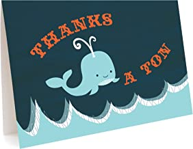 product image for Whale Ton Thank You Cards, 6-Pack by Night Owl Paper Goods