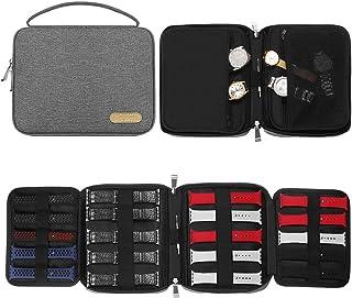 Simboom Organisateur de Bracelet de Montre, Nylon Étanche Sac De Rangement pour Bracelet de Montre Tient 20 Bracelets de M...