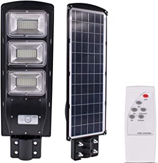 CINAGRO® - 15W Water Proof IP65, Cool Light 6500k Solar LED Street Light with Integrated 20 Watt Solar Panel and 30Ah LiFePO4 Batteries (Automatic On-Off, Remote Controlled) - 2 Years Warranty