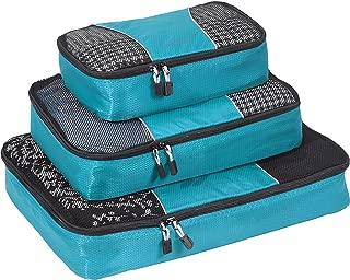 eBags Classic Packing Cubes for Travel - 3pc Set - (Aquamarine)