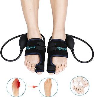 Corrector ortopédico neumático para juanetes, totalmente ajustable con presión barométrica controlable – alisador de dedo