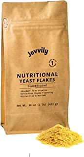 Jovvily Nutritional Yeast Flakes - 1lb - Dairy-Free Cheese Substitute - Delicious - B Vitamins