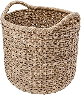"KOUBOO 1060091 Handwoven Decorative Storage Basket, X-Large, 20"" x 20"" x 22"", Twisted Sea Grass"