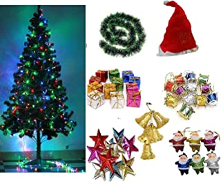 Collectible India Christmas Xmas Tree with Light, 50 Decoration Ornaments, Garland - X-mas Tree Combo for Home Decoration ...