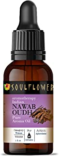 Soulflower Aroma Diffuser Oil - Nawab Oudh - 100% Pure, Organic, Natural, Alcohol-Free, Chemicals Free, No Synthetic Color...