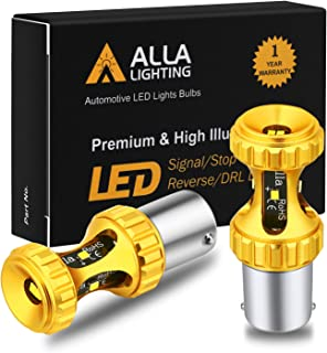 Alla Lighting 1156 7506 LED Bulbs 3000lm Extreme Super Bright Car Motorcycle Signal Reverse Stop Brake Tail Lights BA15S 3497 1141 P21W,  6000K White