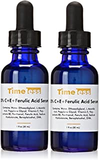 Timeless Skincare 20% Vitamin C E Ferulic Acid Serum 1-Ounce Super Savings (2 Pack)