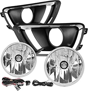 AUTOSAVER88 Fog Lights For Chevy(Chevrolet) Colorado 2015 2016 2017 2018 with PS 24W 12V Halogen Lamp (Clear Lens w/Wiring Kit & Switch)