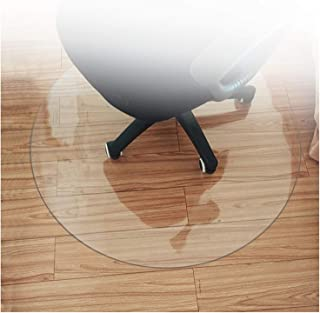 Round Office Chair Mat Tablecloth Transparent PVC Waterproof Anti Scratch for Carpet Non Slip Floor Protector,Clear Table ...