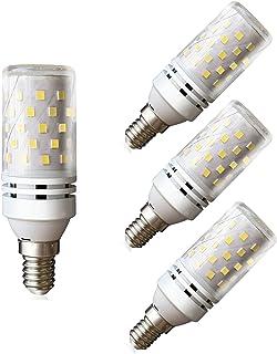 Lampaous LED E14 12 W Bombillas de maíz blanco frío 6000 K Bombillas halógenas de 100 W Sustitución 360 grados ángulo de h...