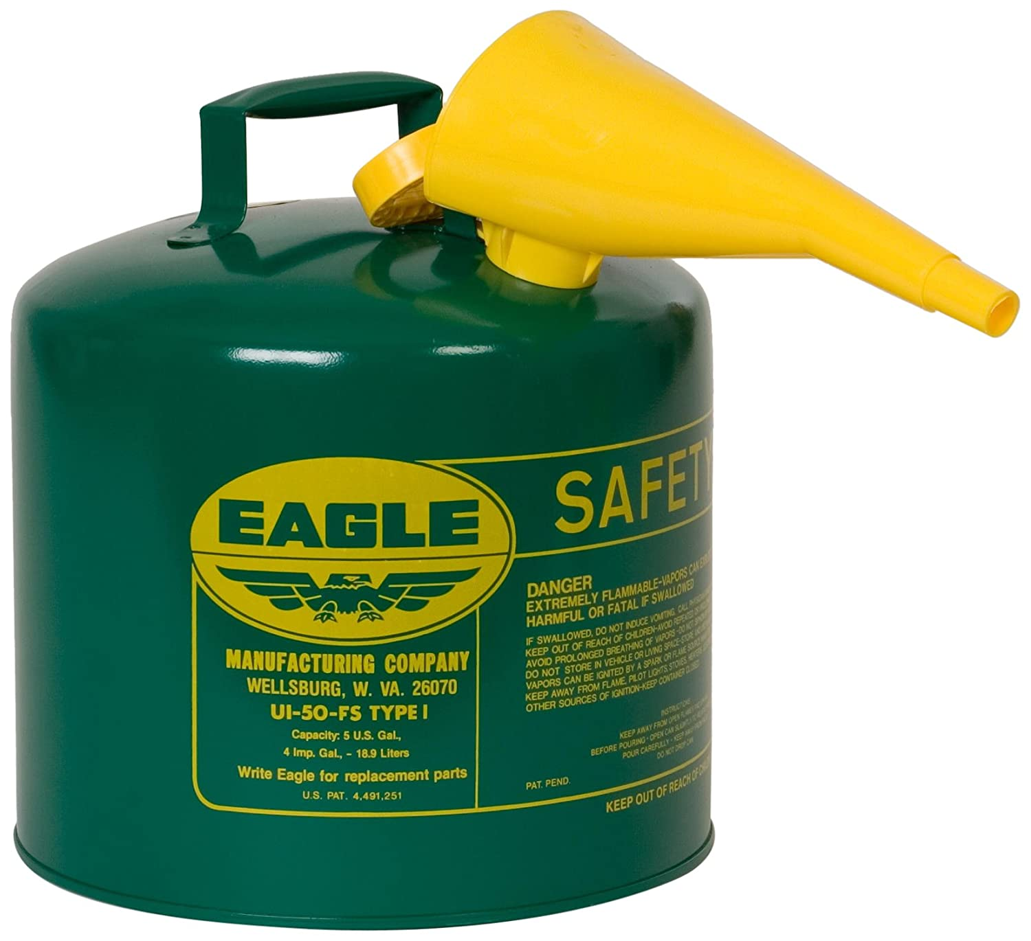 Eagle Free shipping / New UI-50-FSG Type I Metal Safety Funnel Combus with Clearance SALE Limited time F-15 Can