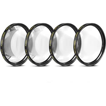 58mm Close-Up Filter Set (+1, 2, 4 and +10 Diopters) Magnificatoin Kit for Select Canon, Nikon, Sony, FujiFilm, Olympus, Pentax, Sigma, Tamron Digital Cameras and Camcorders