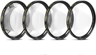 58mm Close-Up Filter Set (+1, 2, 4 and +10 Diopters) Magnificatoin Kit for Select Canon, Nikon, Sony, FujiFilm, Olympus, P...