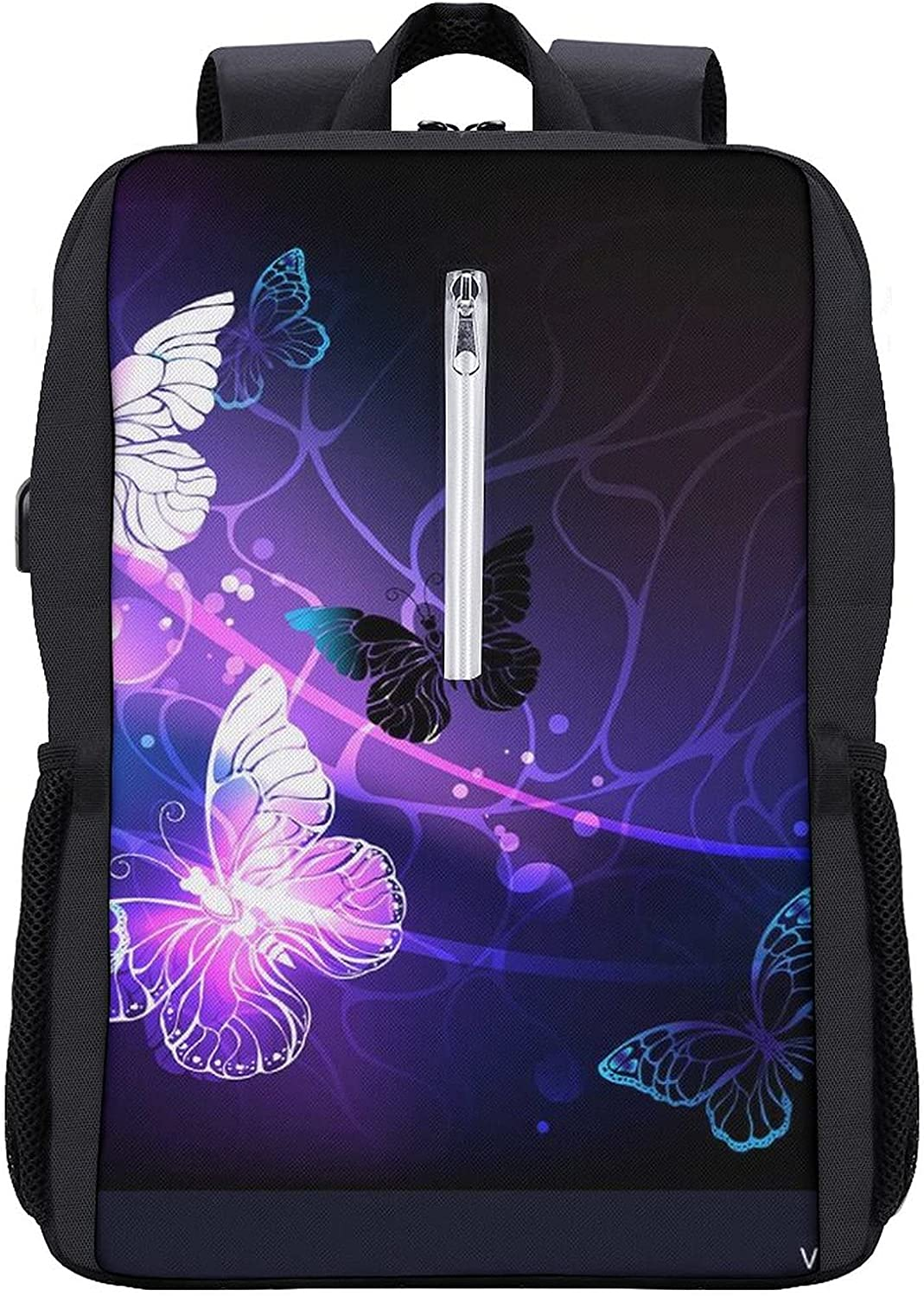 Night Butterflies Fort Worth Mall Backpack for Men Travel USB Award-winning store with Cha