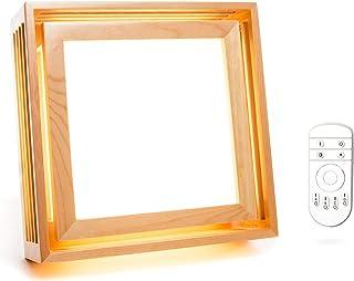 Sunrise Sensations - لامپ نور درمانی BrightBox Full Spectrum ، 10،000 LUX ، بدون UV ، اندازه کامل ، نور قابل تنظیم ساخته شده از چوب جامد C (منظم)