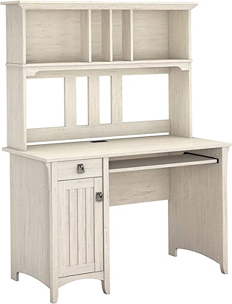 Wood Style Home Mission Desk And Hutch In Antique White Office D Cor Studio Living Heavy Duty Commercial Bar Caf Restaurant