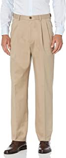 Haggar mens Work To Weekend PRO Relaxed Fit Pleat Front Pant Pants